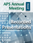 2016 APS Annual Meeting Presentations